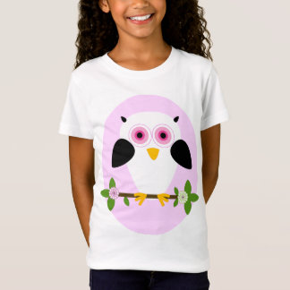 Owl On a String Pale Pink T-Shirt