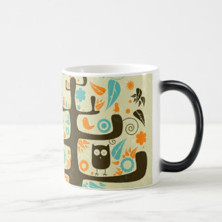 Owl on a Tree Limb Magic Mug