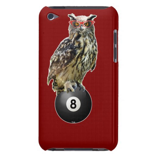 owl on an 8 ball iPod touch cases