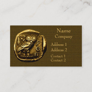 Coin business cards zazzle owl on ancient greek coin business card colourmoves