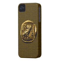 Owl on ancient greek coin iPhone 4 case