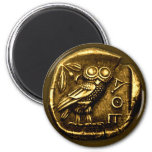 Owl on ancient greek coin refrigerator magnet