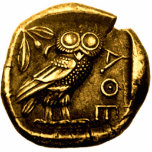 "Owl on ancient greek coin statuette<br><div class=""desc"">Original - by YANKAdesigns!</div>"