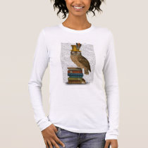 Owl On Books Long Sleeve T-Shirt