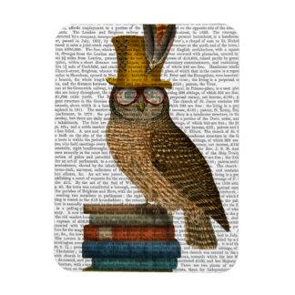 Owl On Books Magnet