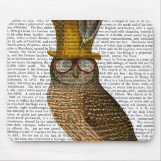 Owl On Books Mouse Pad