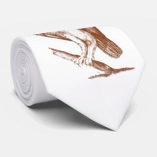 Owl On Branch Neck Tie
