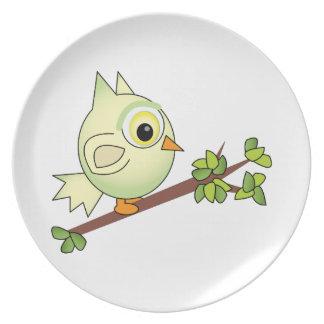 Owl On Limb Plate