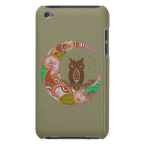 Owl on Moon Barely There iPod Case