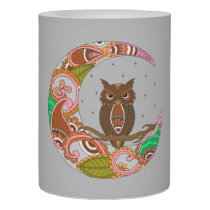 Owl on Moon Flameless Candle