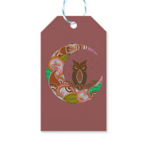 Owl on Moon Gift Tags