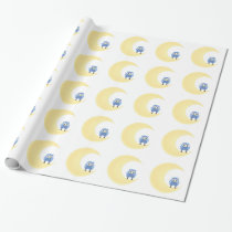 Owl On Moon Wrapping Paper