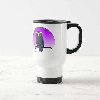 Owl On Perch Travel Mug