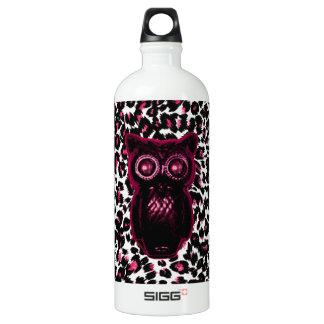 Owl on Pink Leopard Spots Background SIGG Traveler 1.0L Water Bottle