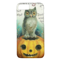 Owl on Pumpkin Halloween iPhone 7 Case