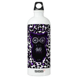 Owl On Purple Leopard Spots SIGG Traveler 1.0L Water Bottle
