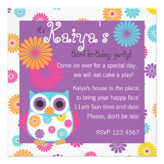 Owl on the Bright Side Invitations