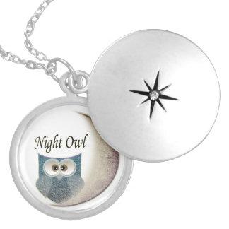Owl on the Moon Art Pendants