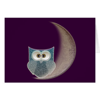 Owl on the Moon Card