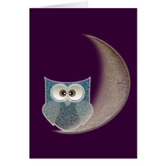Owl on the Moon Card