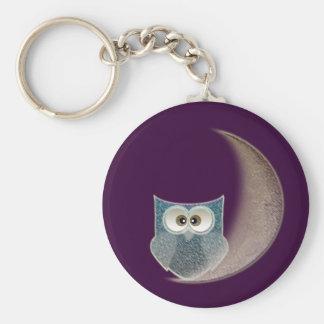 Owl on the Moon Keychain