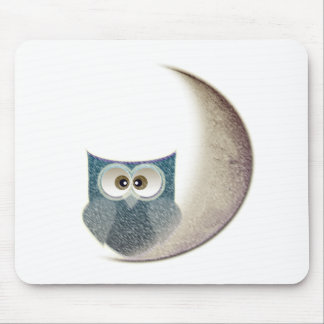 Owl on the Moon Mouse Pad