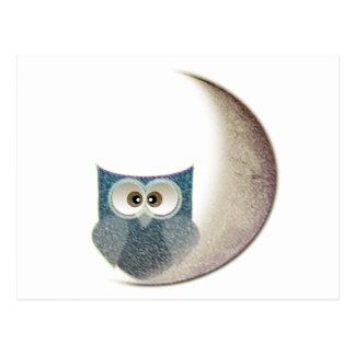 Owl on the Moon Postcard