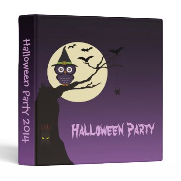 SpecialOccasionCards Owl on tree branch Halloween Party Photo Album Binder