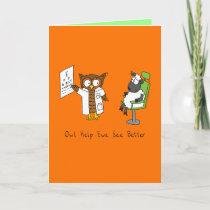 Owl Optometrist - Sheep Glasses Greeting Card