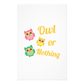 Owl or Nothing Stationery Paper