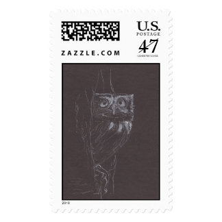 Owl Original drawing Stamp