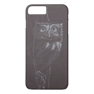 Owl - Original Drawing - White Ink - Case