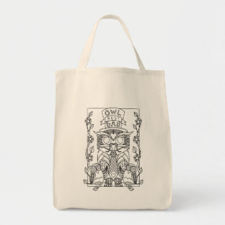 owl our best dad Fathers day tote bag