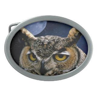 Owl Oval Belt Buckle
