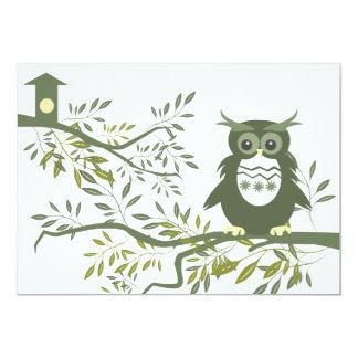 Owl ~ Owl Sitting On Tree Branch Card
