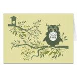 Owl ~ Owl Sitting On Tree Branch Greeting Card