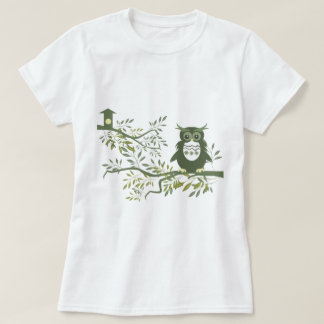 Owl ~ Owl Sitting On Tree Branch T-Shirt