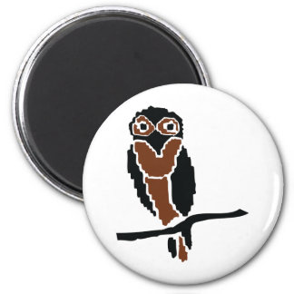 owl owlet eule 2 inch round magnet