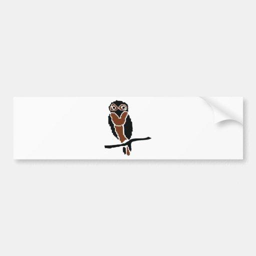 owl owlet eule bumper sticker