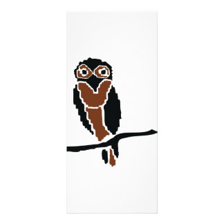 owl owlet eule personalized rack card