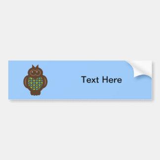 Owl Owls Bird Birds Cute Cartoon Animal Bumper Sticker