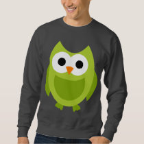 Owl Owls Bird Birds Green Cute Cartoon Animal Sweatshirt