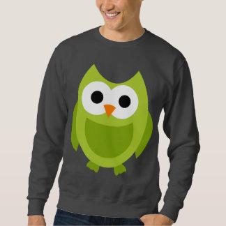 Owl Owls Bird Birds Green Cute Cartoon Animal Sweatshirt