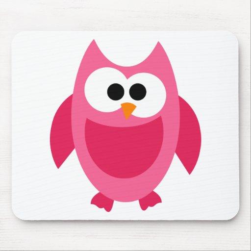 Owl Owls Bird Birds Pink Colorful Cute Cartoon Mousepads