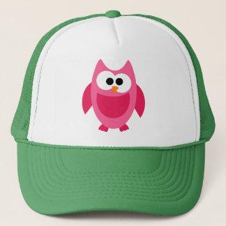 Owl Owls Bird Birds Pink Colorful Cute Cartoon Trucker Hat