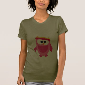 Owl Owls Bird Pink Snow Winter Hat Colorful Cute T Shirts