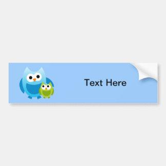 Owl Owls Birds Mom Baby Love Happy Cute Cartoon Bumper Sticker