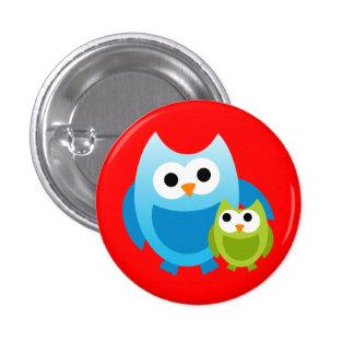 Owl Owls Birds Mom Baby Love Happy Cute Cartoon Pinback Button