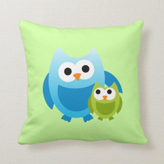 Owl Owls Birds Mom Baby Love Happy Cute Pillow