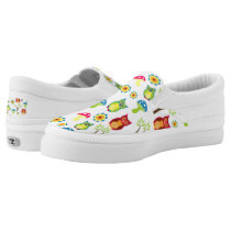 owl owls branches leaf animals nature mushroom Slip-On sneakers